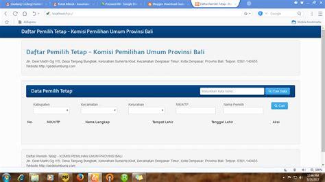 layout gudang secara umum download sourcecode aplikasi daftar pemilih tetap komisi