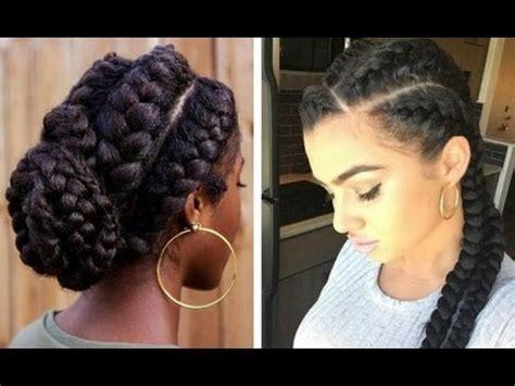 goddess braid on natural 4c hair: quick easy tutorial
