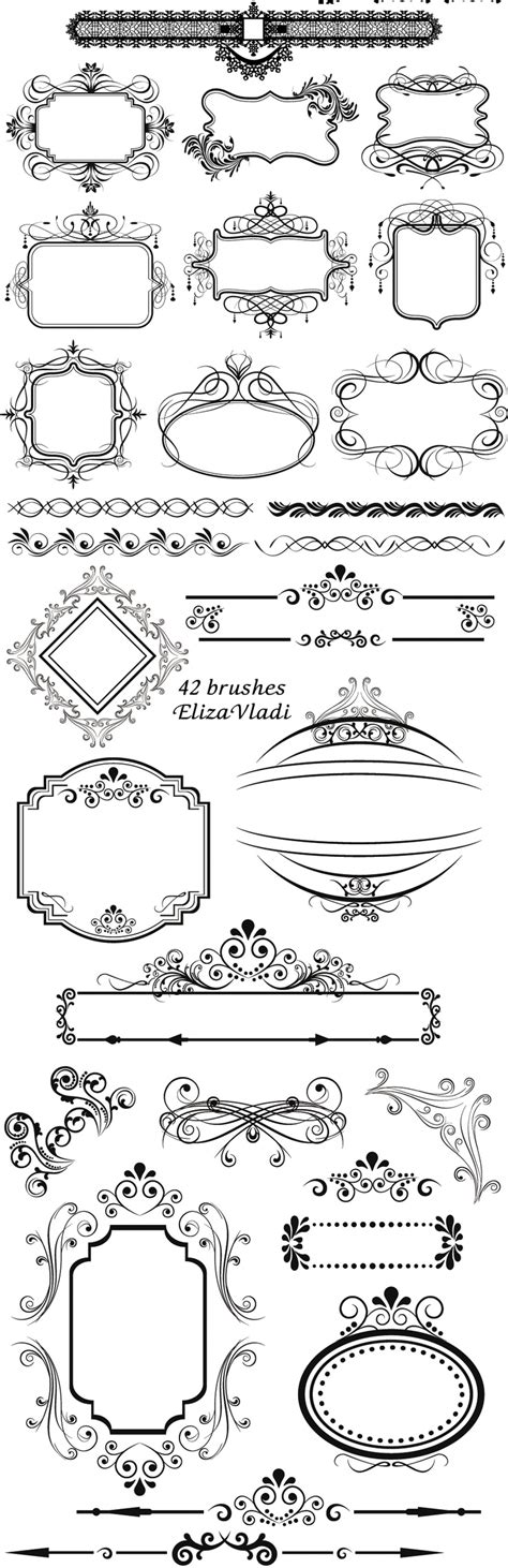 vintage frame templates for photoshop 13 free vintage frame photoshop brushes images free