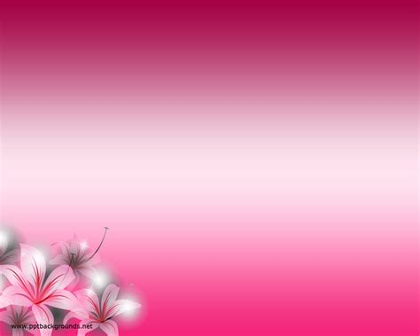 Pink Flowers Backgrounds For Powerpoint Flower Ppt Templates Flower Powerpoint Template