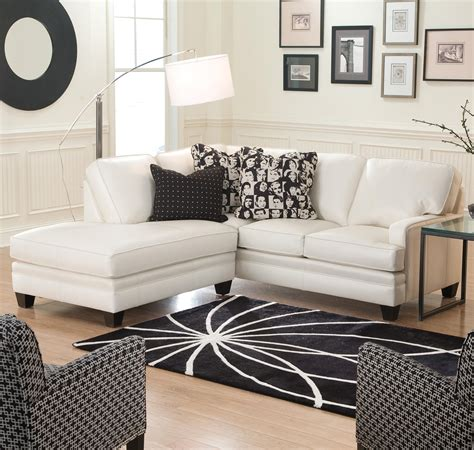 small white sectional sofa small sectional sofa with contemporary look by smith