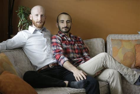 gay on the couch gay couple becomes the face of same sex marriage in utah