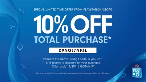 discount voucher psn playstation store discount code sony celebrates black friday