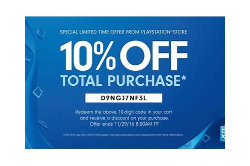 coupon ps4 store