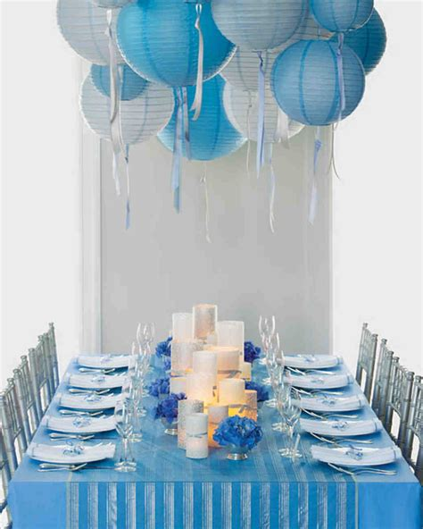 decorations silver and blue wedding colors blue and silver martha stewart weddings