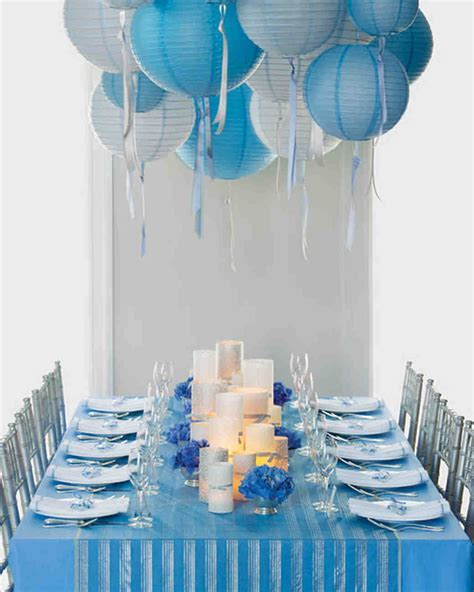 Wedding Colors: Blue and Silver   Martha Stewart Weddings