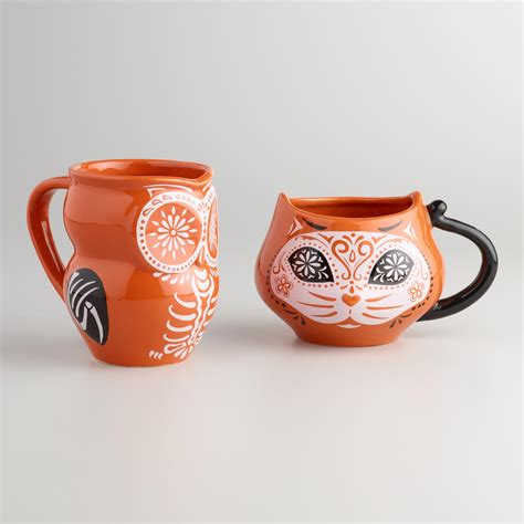 animal mugs los muertos animal mugs set of 4 world market