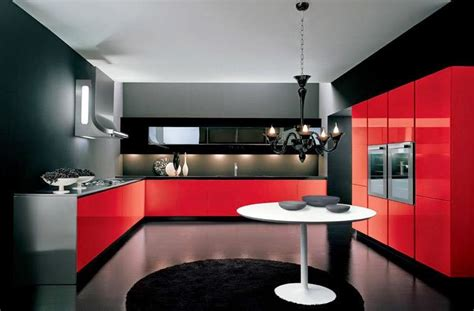 Red And Black Kitchen Ideas | luxury italian kitchen designs ideas 2015 italian kitchens