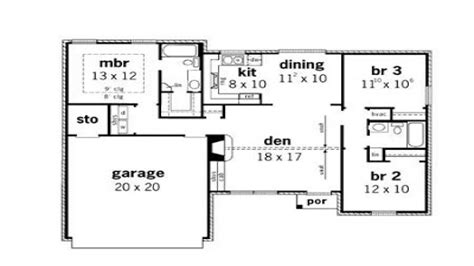 3 bedroom cottage house plans simple small house floor plans 3 bedroom simple small