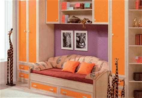Purple And Orange Bedroom Decor by Colorful Bedroom And Playroom Design
