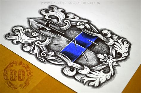 police badge tattoo designs design stencil reference
