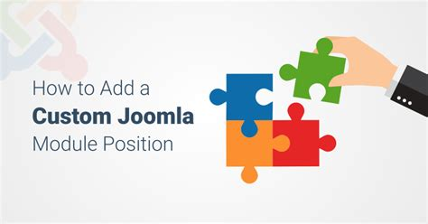 how to add template in joomla how to add a custom joomla module position