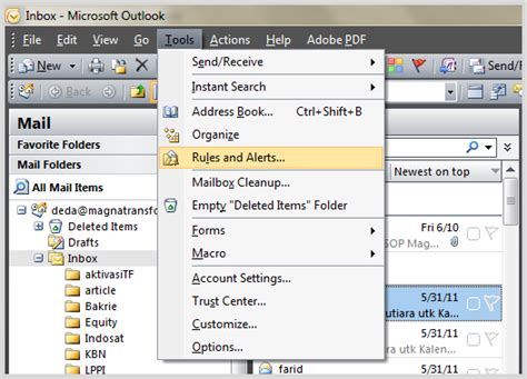 cara membuat email reminder di outlook cara setting folder inbox berdasarkan contact di outlook