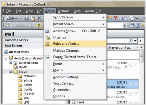 cara membuat opini berdasarkan fakta cara setting folder inbox berdasarkan contact di outlook