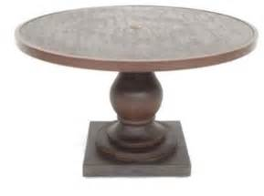 Round pedestal table contemporary outdoor dining tables by lowe