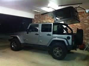 jeep hardtop storage lift storage decorations