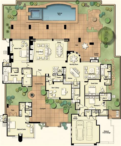 mexican hacienda floor plans 17 best ideas about hacienda homes on pinterest