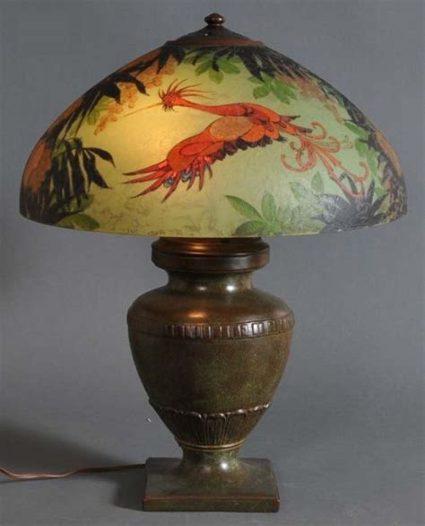 handel painted ls for sale 103 best images about slag glass ls