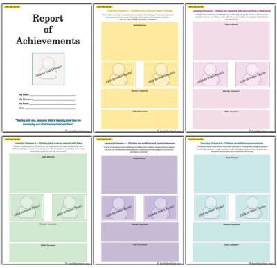 end of the year report template report of achievements end of year template aussie