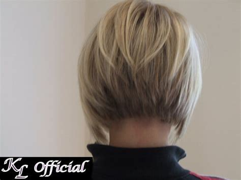 photos of the back of angled bob haircuts inverted bob haircut back view