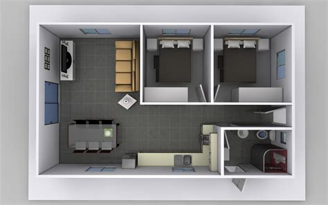 Small Flat Design | two bedroom granny flat plans for australia