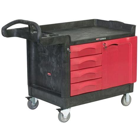 Small Storage Cart With Drawers Rubbermaid Commercial Products 26 25 Small Utility Cart In