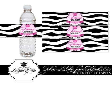 baby shower water bottle labels template water bottle labels template baby shower