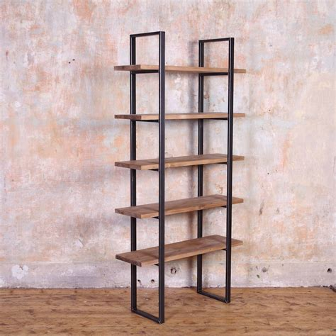 industrial style shelving industrial style reclaimed wood shelving unit by cosywood notonthehighstreet