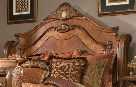 aico cortina bedroom set aico cortina bedroom set 5 honey walnut