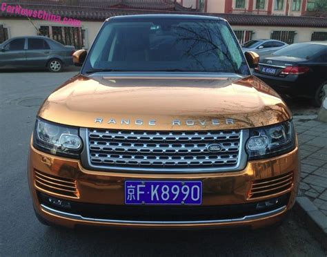 gold range rover range rover is shiny gold in china carnewschina com