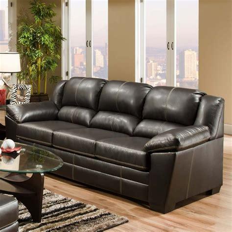 simmons urban chocolate leather sofa traditional sofas