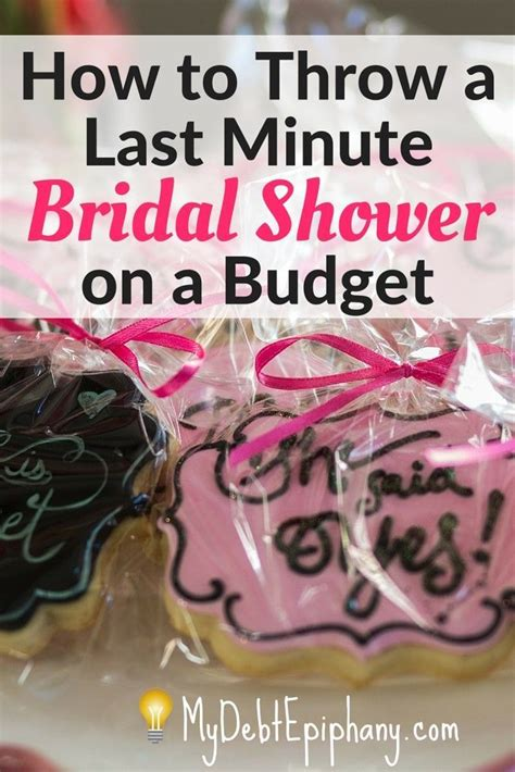 how to throw a bridal shower on a budget last minute