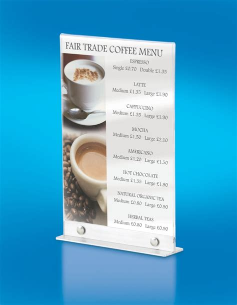 Acrylic Menu acrylic menu holders barconwood