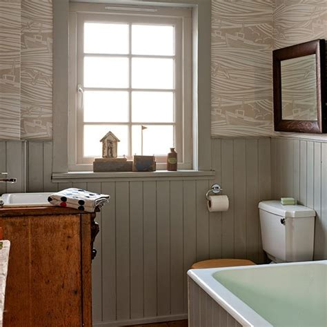cosy bathroom ideas cosy bathroom with pattern and panelling small bathroom