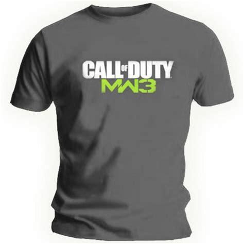 Tshirt Cal Master official t shirt call of duty charcoal grey mw3 grey logo