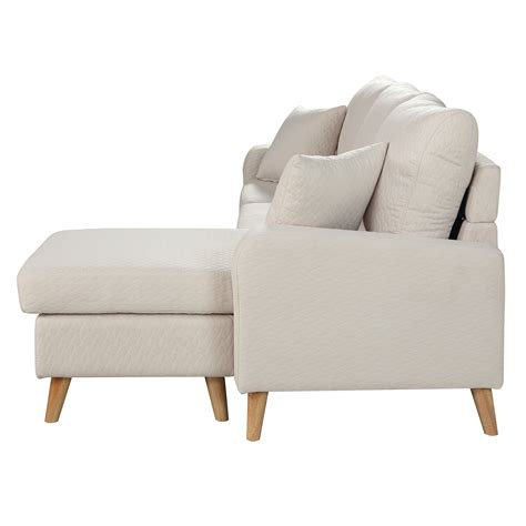 sectional sofa w chaise modern fabric small space sectional sofa w reversible