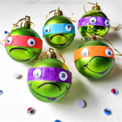 cute ninja turtle diy christmas ornaments