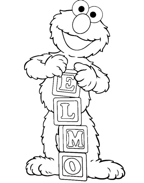 elmo coloring elmo is showing his name coloring page elmo coloring