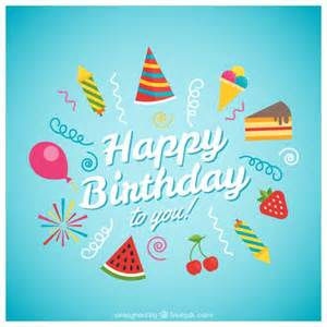 happy birthday card with vector free
