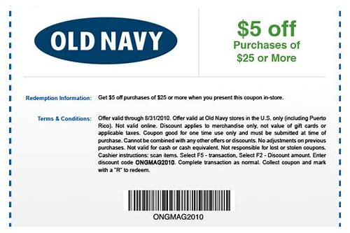 coupon codes for old navy march 2018