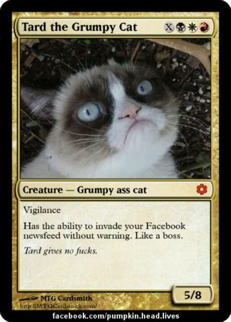 card grumpy cat mtg card spoof lol x in the mana cost is for mtg