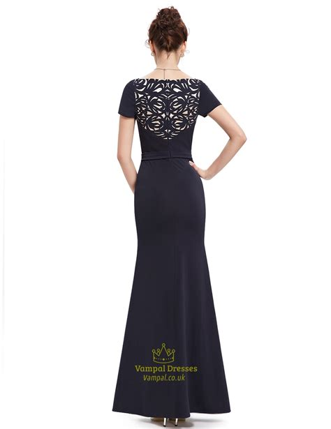black beaded prom dress black beaded mermaid sleeves prom dress with sequin