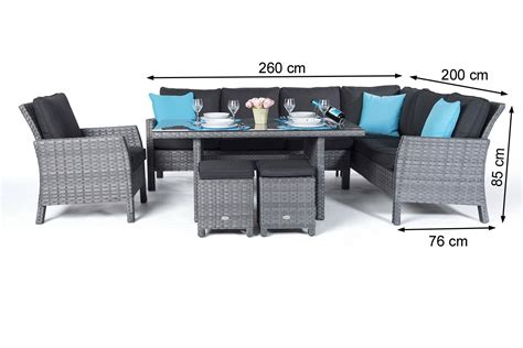 gartenmã bel manchester rattan garden furniture dining lounge in mixed grey