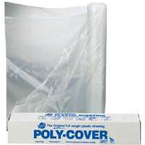clear plastic l shade protectors poly cover coverall 4x3cc waterproof polyfilm 4 mil t 3