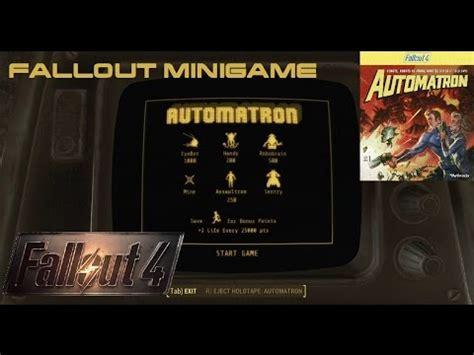 Fallout 4 Automatron Mini Game by Automatron Dlc Minigame Holotape In Fallout 4 Location