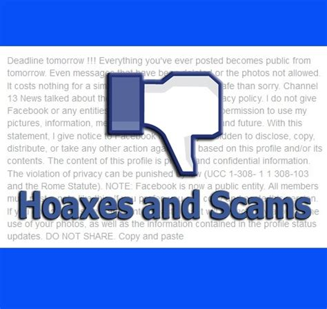 hoaxes and scams tds home