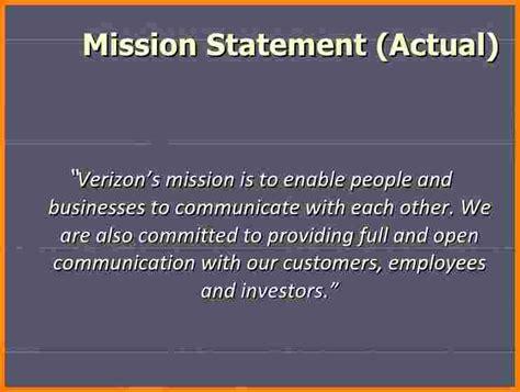 verizon wireless mission statement case statement