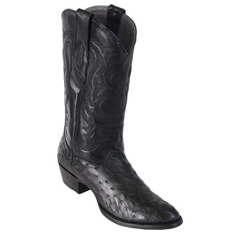 round los altos los altos men s full quill ostrich round toe western boots