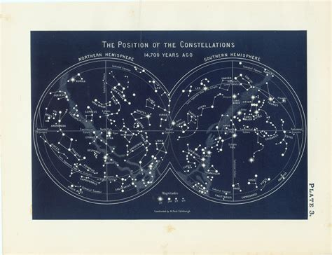 printable star constellation map vintage constellation map google search space