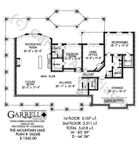 mountain lake house plan craftsman house plans